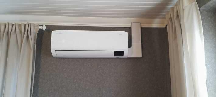 Realisatie Samsung multisplit airco/warmtepomp met 2 binnenunits CEBU te Oosterzele