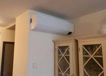 Realisatie Samsung multisplit airco/warmtepomp met 2 binnenunits Wind Free Comfort te Gent
