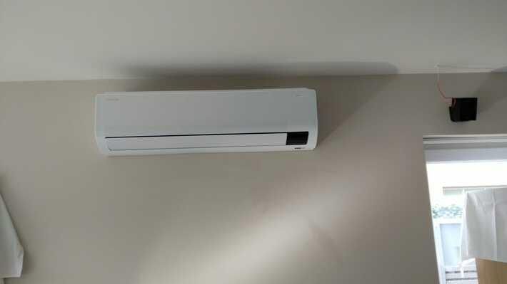 Realisatie Samsung multisplit aircowarmtepomp met 3 binnenunits Wind Free Comfort te Moorsel