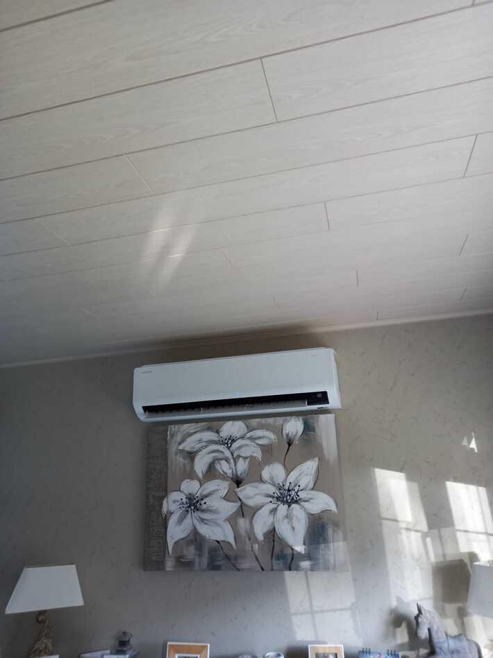 Realisatie Samsung multisplit aircowarmtepomp met 4 binnenunits Wind Free Comfort te Denderleeuw